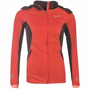 Nike Shied Max DriFit Running Jacket Womens Red Run Jogging Track Top Sportswear