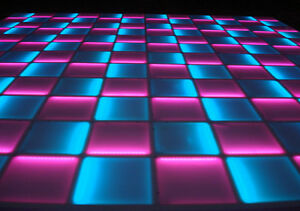 NEW! Complete 16' ft x 16' ft LED LIGHTED DANCE FLOOR Disco DJ Night Club Party