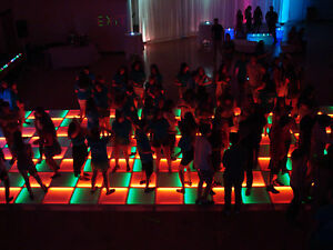 NEW! Complete 20' ft x 20' ft LED LIGHTED DANCE FLOOR Disco DJ Night Club Party