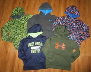 Lot 5 Boy UNDER ARMOUR Print STORM Fleece Loose Full Zip Hoodie YMD Medium 1012