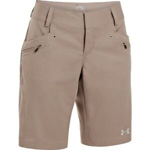 Under Armour Womens UA Fishing Semi-Fitted Shorts Sz 6 # 1235398 236 NWT $59.99