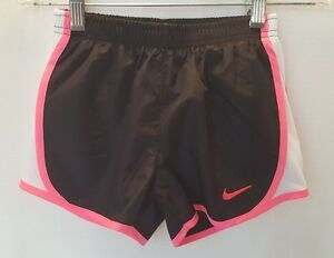 NWT Nike Girl's Dry Fit Stay Cool Shorts - Size 6X - BlackPinkWhite