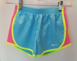 NWT Nike Girl's Dry Fit Stay Cool Shorts - Size 6X - BluePinkYellow
