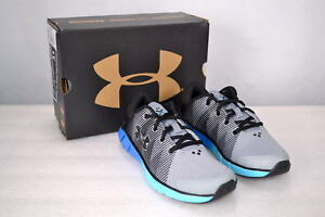 Boy's Under Armour 1285380 X Level Scram Jet Running Shoes Black Blue