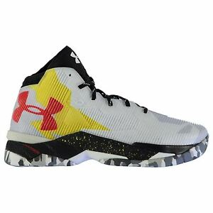 Under Armour SC30 Top Gun Basketball Shoes Mens WhBk Trainers Sneakers Footwear