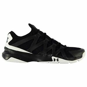 Under Armour Charged Phenom 2 Running Shoes Mens BlkWht Sport Trainers Sneakers