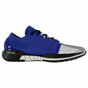 Under Armour SpeedForm AMP Running Shoes Mens BlueWht Sports Trainers Sneakers