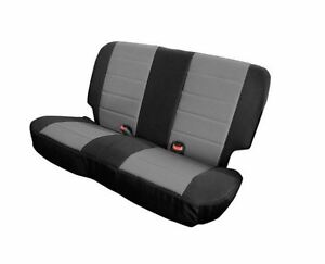 XRC Rear Seat Cover Black and Gray For Jeep CJ Wrangler YJ 1980-95 Smittybilt