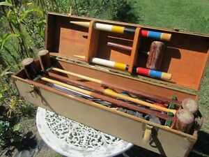 Vintage Abercrombie & Fitch Wooden Croquet Set SUPER RARE  Martha's Vineyard :)
