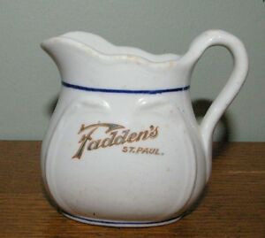 Antique Restaurant Individual China Creamer Fadden's St. Paul MInnesota