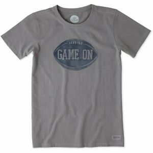 Life is Good Women's Game On Football Crusher T-Shirt New