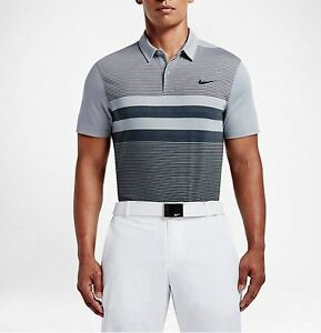 $75 NWT Men's Nike MODERN SLIM FIT TRANSITION DRY Golf Polo Shirt 802851 012
