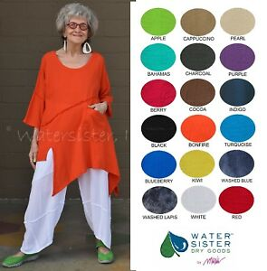 WATERSISTER Cotton Gauze  HOLLY  Tunic Asymm Top 1(SM) 2(ML) 3(XL) 2018 COLORS