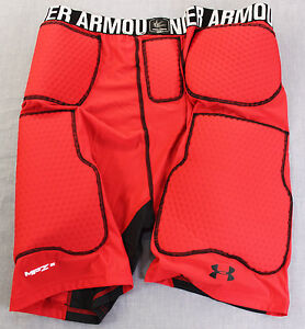 UNDER ARMOUR MPZ Mens RED COMPRESSION 5 PAD FOOTBALL GIRDLE SHORTS NWT  3XL  $60