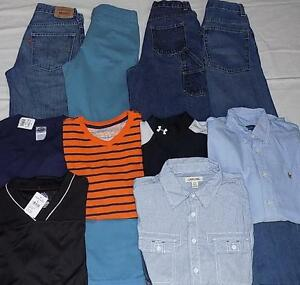 Boys 14-16 & 16 HUGE Clothes LOT UNDER ARMOUR LEVIS RL OUTFITS Jeans Shirts