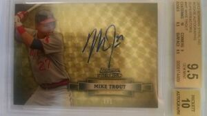 2012 Mike Trout Bowman Sterling Superfractor Rookie Auto RC 1/1 BGS 9.5