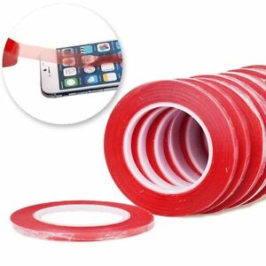 25M RED Film 3M Transparent DOUBLE SIDED STICKY ADHESIVE TAPE Cell Phone Repair $6.89