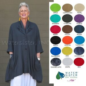 WATERSISTER Cotton Gauze  NATALIE  Jacket Top 1(ML) 2(XL1X) 3(2X) 2018 COLORS