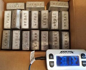 FREE SHIPPING! Lot of 30 Pounds - LYMAN Bullet Casting Metal Lead Ingots
