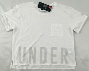 Under Armour GIRL'S Athletic Shirt Loose HeatGear White Size YOUTH XL $9.99