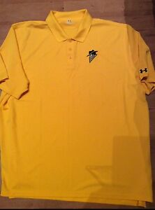 UNDER ARMOUR GOTHAM ROGUES AMERICAN FOOTBALL POLO SHIRT BATMAN DARK KNIGHT PROP
