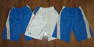 Lot 3 Boy's UNDER ARMOUR Drive Trey Loose Basketball Athletic Shorts YLG Large