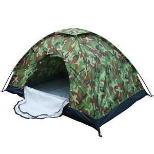 Camo Outdoor Camping Waterproof 1-2 Person Folding Tent Camouflage Hiking