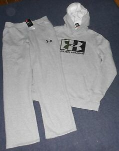 BOYS NWT UNDER ARMOUR HOMETOWN FLEECE HOODIE & RIVAL PANTS SET OUTFIT - XL