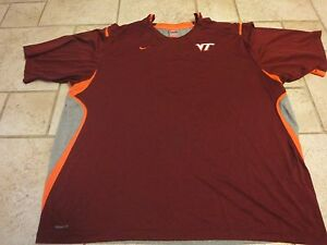 Nike Virginia Tech Hokies College Dry Fit Compression Shirt Mens 3XL 54