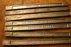 40 Pounds of Solder Bars – Lead Tin – 50:50 and 40:60