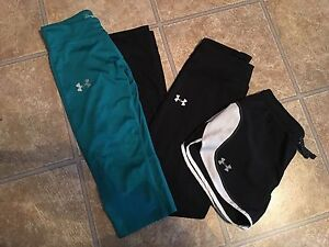 Girls Under Armour Pants Shorts Capris Multi Color Lot YLG Large Youth BTS