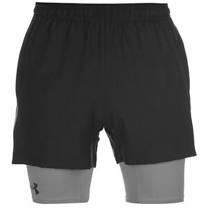 Under Armour Mirage 2 in 1 Shorts Mens Black Gym Fitness Lifestyle Sportswear
