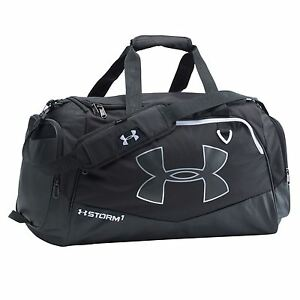 Under Armour Undeniable Large Duffle Sports Bag BlackWhite Gym Kit Bag Carryall