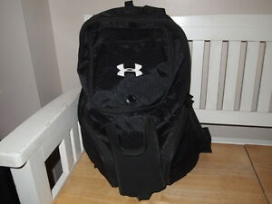 Under Armour UA Black Backpack Baseball Softball Men's Women's 22 X 21 Holds Bat