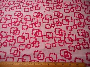 Batik Fabric BTY By Yard Bright Pink Design on Light Pink Quilting Cotton #67 #C