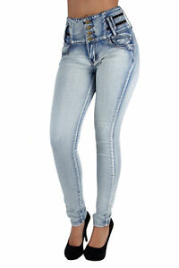 VR9-9W035(S) - Colombian Design Butt Lift High Waist Premium Skinny Jeans
