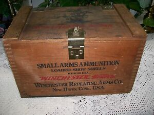 VINTAGE WINCHESTER WESTERN SMALL ARMS WOODEN AMMO BOX SUPER X STAYNLESS BOX ONLY