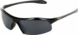 Under Armour Zone Sunglass Shiny Black Frame W Gray Polarized W