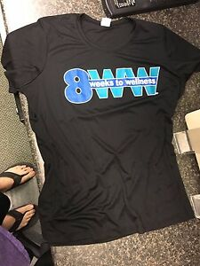8 Weeks To Wellness Dri-Fit Shirts MenWomen Sizes and Drawstring Bags