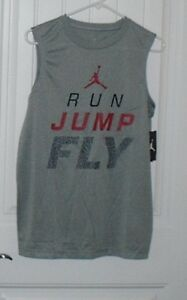 NWT Boys NIKE Dri Fit Air Jordan Gray