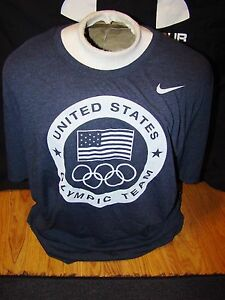 NWT MENS NIKE DRI FIT USA OLYMPIC TEAM UNITED STATES OF AMERICA NAVY SHIRT LARGE