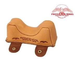 PROTEKTOR MODEL - NEW #2F LEATHER FRONT OWL BAG SHOOTING REST MADE IN U.S.A.