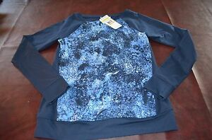 NWT Womens Under Armour Studio UA Fitted Blue Top Shirt Base All Season SMALL