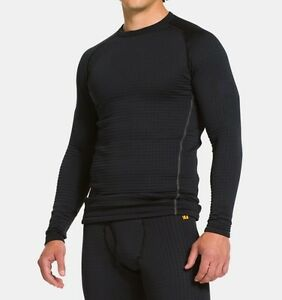 BRAND NEW MENS UNDER ARMOUR BLACK 4.0 BASE LAYER COLD GEAR FITTED FIT SHIRT XXL