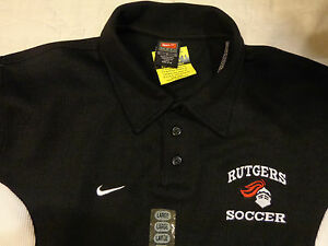 NWOT NIKE TEAM DRI FIT GOLFNCAARUTGERS SOCCER KNIGHTSLG MENSS SHIRTEXCEL