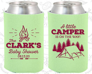 Baby Shower Koozies Koozie Supplies (90129) Camping Little Camper Is On The Way