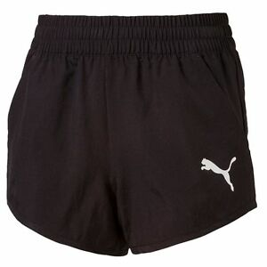 Puma Girls Kids Active Dry Sports Fitness Running Workout Woven Shorts Black