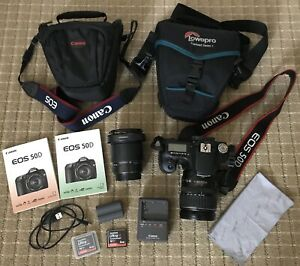 Canon EOS 50D 15.1MP Camera with 28-135mm Lens Tamron 28-200 Lens 2 bags etc
