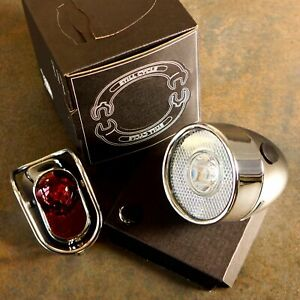 Still Classic Vintage Metal Bicycle light Front Rear Silver for Road city