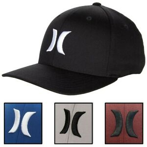 Hurley Mens One and Only Flex Fit Stretch Fitted Hat Cap Black $25.00